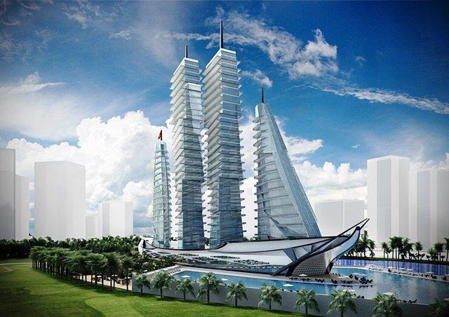 Российский архитектор показал больницу-небоскрёб в виде яхты. Изображение № 2.