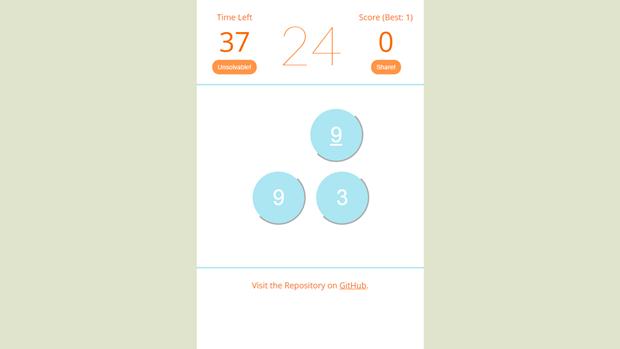Ссылка дня: получите 24 за минуту с помощью 4 чисел и 4 действий. Изображение № 3.