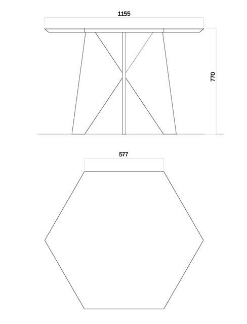 Шестиугольный стол Cell-za-table. Изображение № 3.