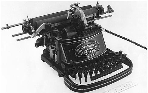 Первая электрическая печатная машинка производства Blickensderfer. 1902 г.. Изображение № 8.