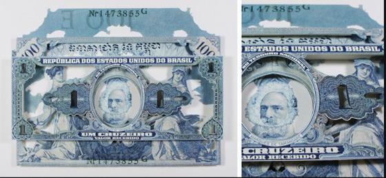 Картины и коллажи из денег Родриго Торреса. Изображение № 9.