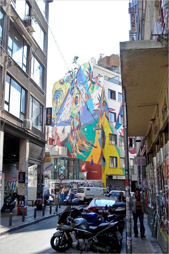 Стрит-арт и граффити Афин, Греция. Часть 2. Изображение № 41.
