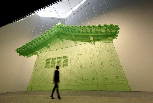 Корейский художник создаёт физические 3D-модели интерьеров. Изображение № 3.