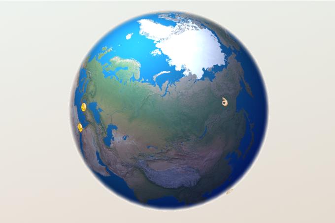 Разработчик создал интерактивную карту с трансляцией Emoji из Twitter . Изображение № 1.
