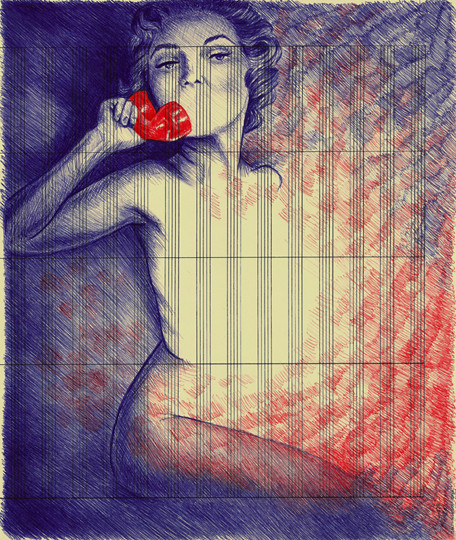 В пространстве рисунка: четыре художника. Изображение № 10.