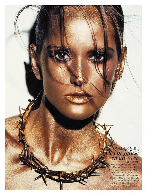 Съёмка: Аризона Мьюз, Каролина Куркова, Наташа Поли и другие для французского Vogue. Изображение № 3.