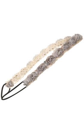 Grey Crochet Rosebud Headband -Topshop - us.topshop.com. Изображение № 104.