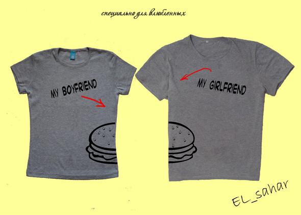 Elsaharova: половинчатые футболки на 14 февраля. Изображение № 3.