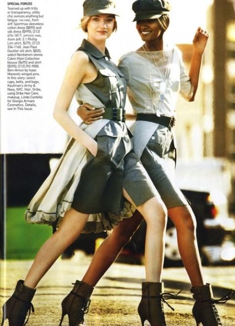Изображение 6. Фотосессия в Vogue в стиле милитари.. Изображение № 6.