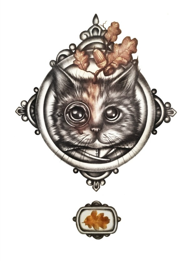 Мария Вдовиченко и её кот. Изображение № 1.