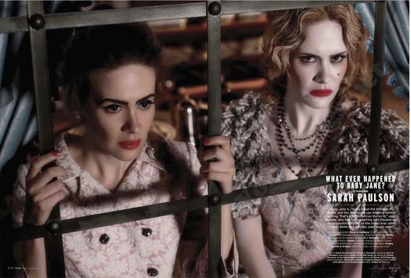 Съёмка: Актрисы из «Хора» и «Американской Истории Ужасов» для Elle. Изображение № 9.