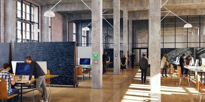Один из проектов Dream Industries — коворкинг DI Telegraph. Изображение № 1.