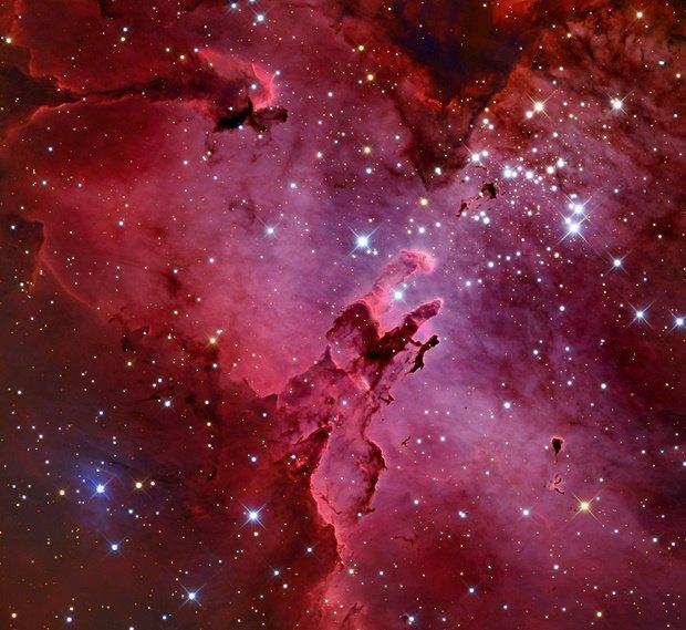 Туманность Орёл (Messier 16) и регион Столпы творения. Изображение № 1.