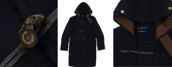 Fred Perry x Gloverall Monty Duffle Coat. Изображение № 3.