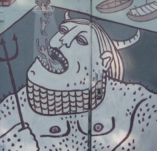 Суровый финский стрит-арт или что викинги рисуют на стенах?. Изображение № 1.