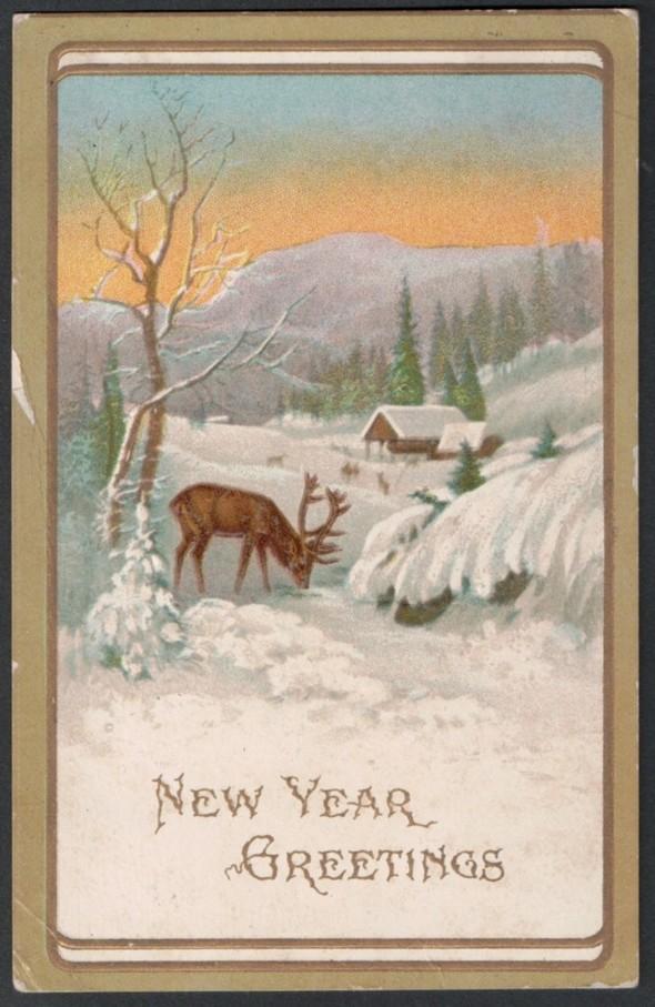Новогодние открытки 1912 года. Изображение № 9.
