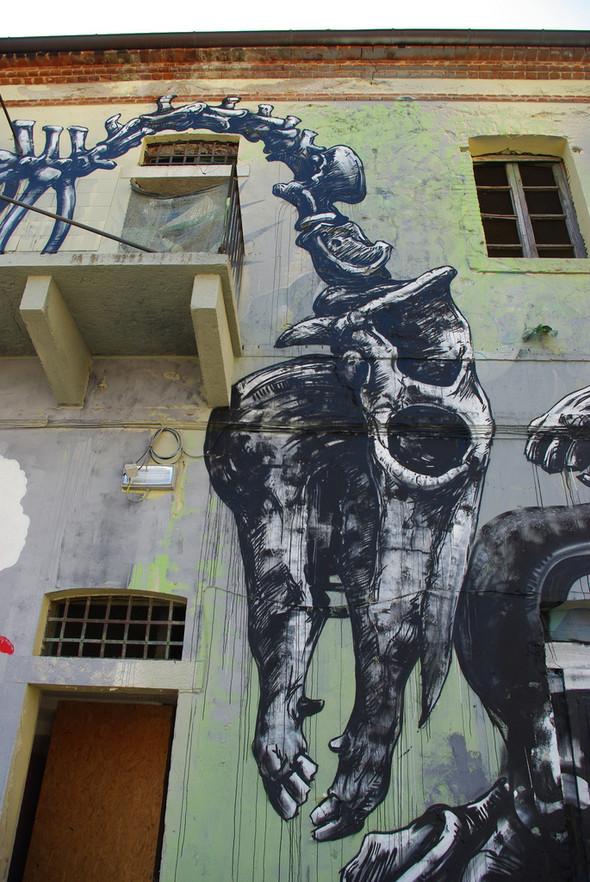 Животный стрит-арт от бельгийского граффитчика ROA. Изображение № 40.