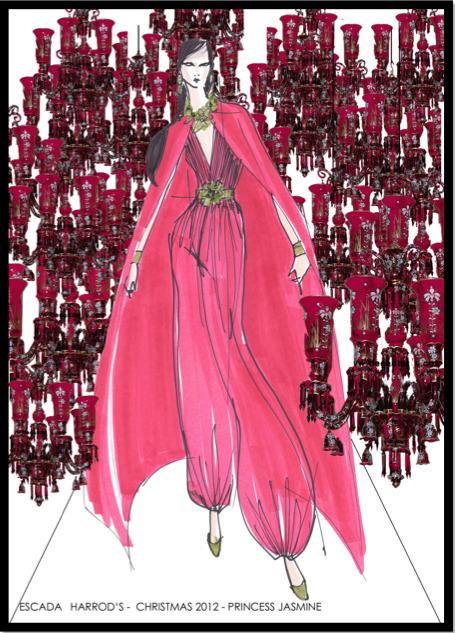 10 платьев диснеевских принцеcc от мировых дизайнеров в Harrods. Изображение №7.