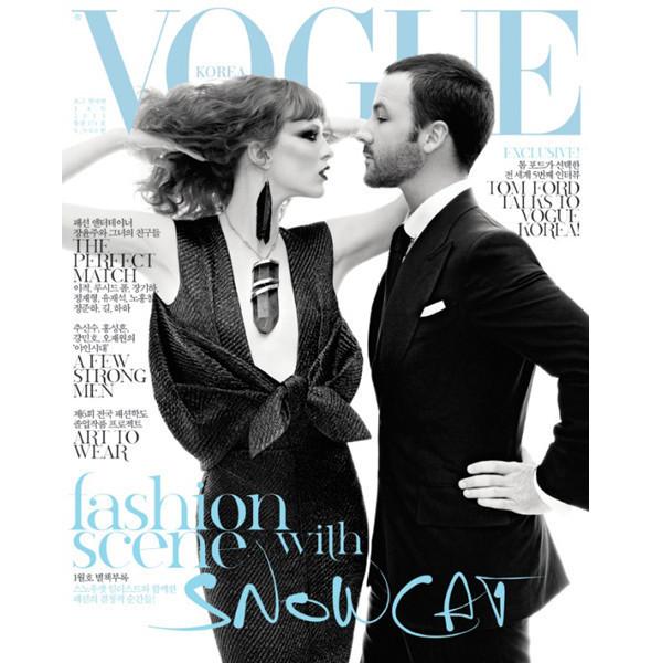 Том Форд и Карен Элсон появятся на обложке корейского Vogue. Изображение № 1.