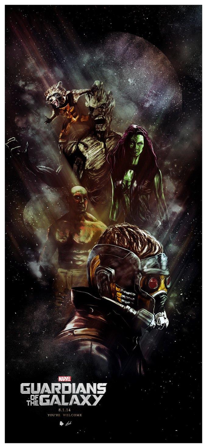 Опубликованы 44 фанатских постера к «Стражам Галактики». Изображение № 24.