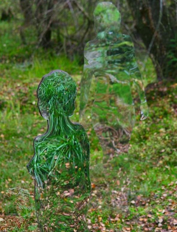 Скульптуры-призраки в шотландском лесу. Изображение № 9.
