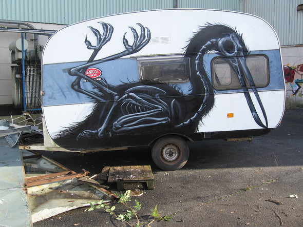 Животный стрит-арт от бельгийского граффитчика ROA. Изображение № 10.