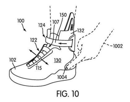 Nike патентует самозавязывающиеся кроссовки. Изображение № 1.