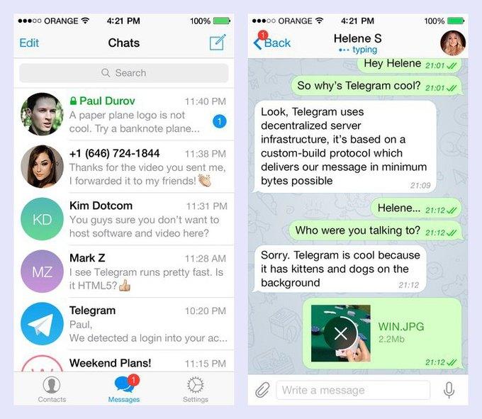 Telegram переименовали и опубликовали новую версию с поддержкой iPad . Изображение № 2.