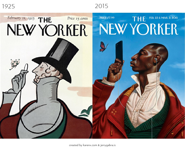 Обложки журналов1900–1950-х сравнили ссовременными. Изображение № 13.
