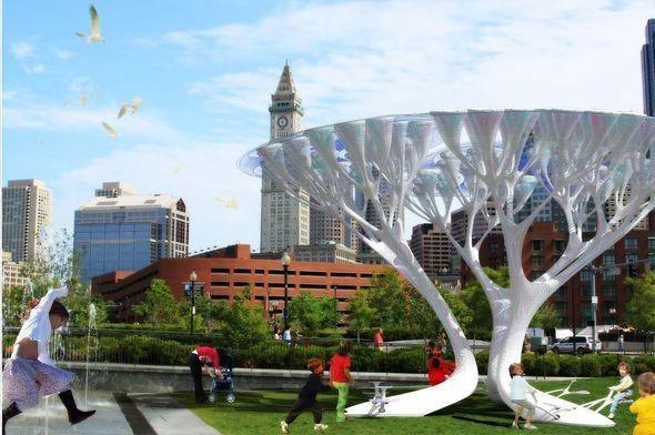 Изображение 3. Деревья - искусственные, кислород - настоящий.. Изображение № 3.