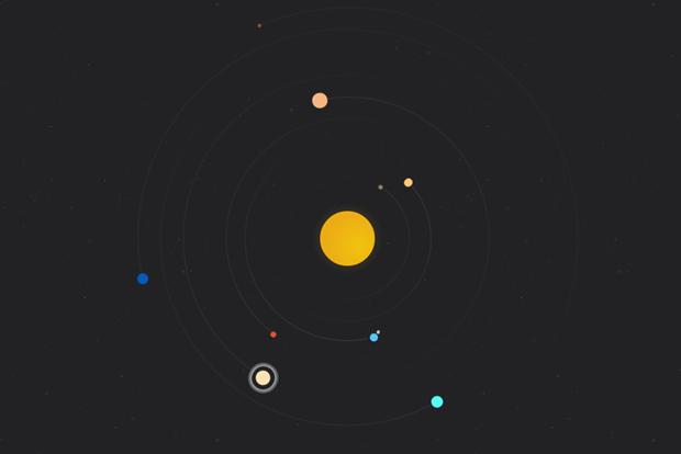Дизайнер построил модель Солнечной системы на CSS . Изображение № 1.