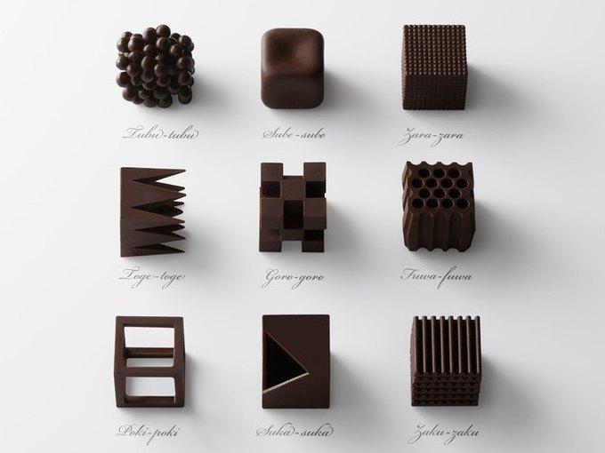 Дизайнеры Nendo разработали шоколад с разными текстурами. Изображение № 3.