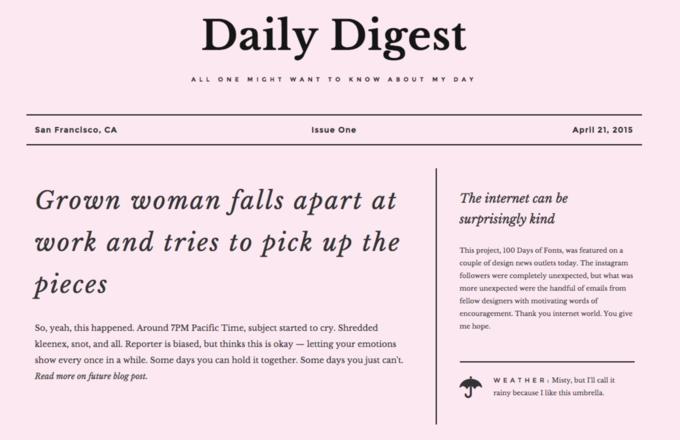 Блог дня: 100 работ с Google Fonts за100 дней. Изображение № 4.