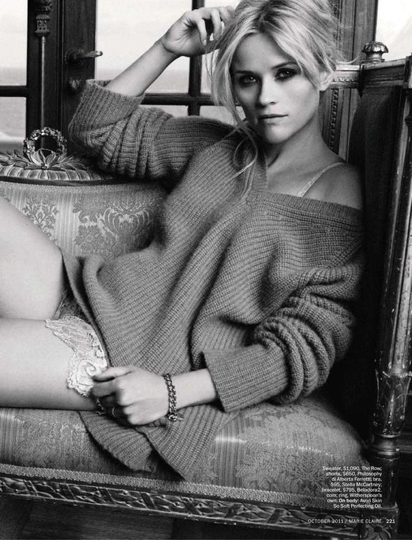 Съёмка: Риз Уизерспун для Marie Claire. Изображение № 2.