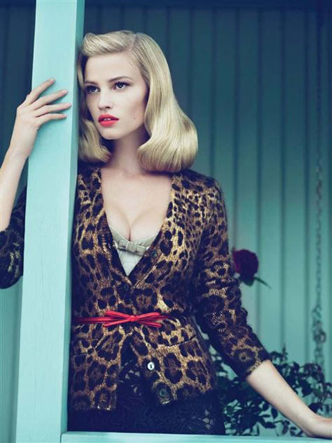 Lara Stone by Mert & Marcus for Vogue US September 2010. Изображение № 5.