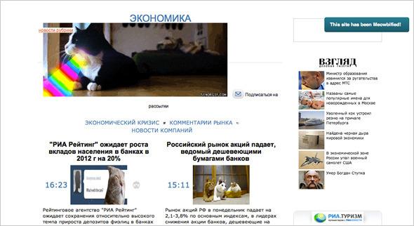 Котировка сайтов: Как заполнить любой сайт мигающими котами. Изображение №3.