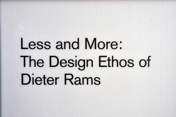 Выставка Dieter Ramsа вЛондонском Design Museum. Изображение № 1.