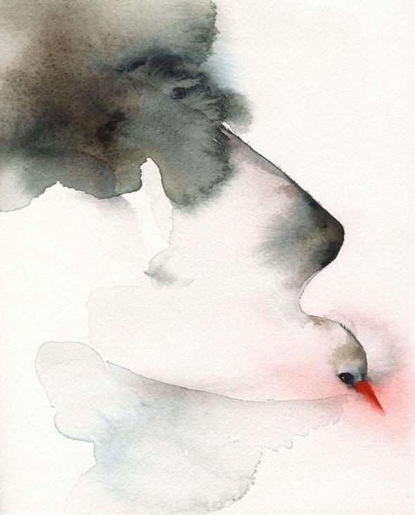 Изображение 25. Amber Alexander - животные, сияющие акварелью.. Изображение № 25.
