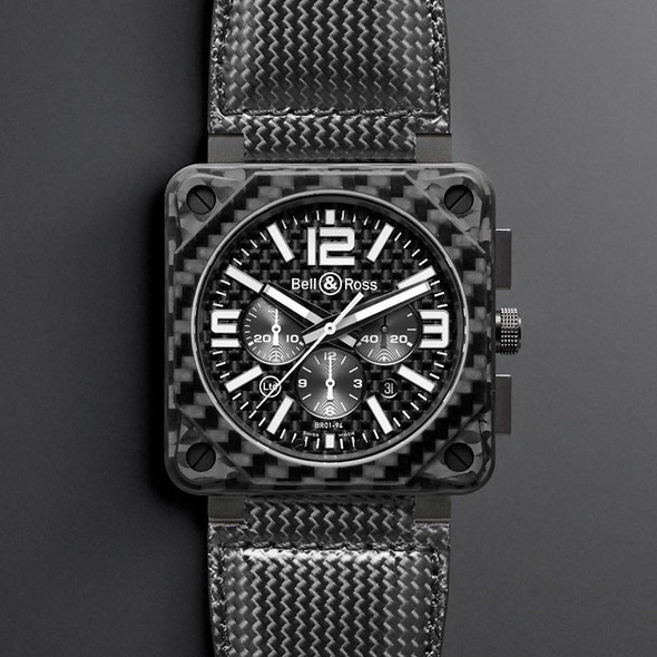 Bell & Ross Instrument BR01–94 Carbon Fiber Chronograph. Изображение № 1.