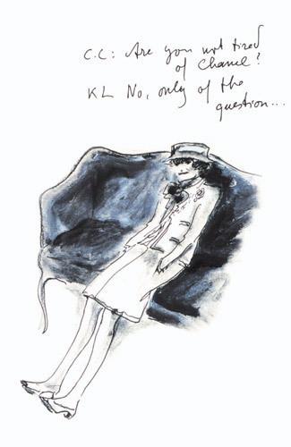 Иллюстрация Карла Лагерфельда к книге «Coco Chanel. Легенда и жизнь» . Изображение № 10.