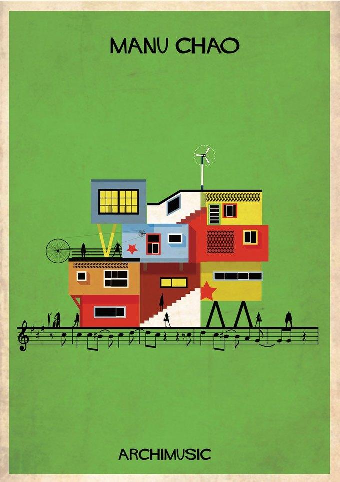 Испанский архитектор превратила песни в здания для новой серии плакатов . Изображение № 20.