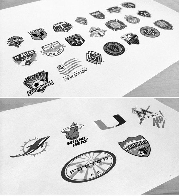Дизайнер создал айдентику для клуба Дэвида Бекхэма. Изображение № 1.