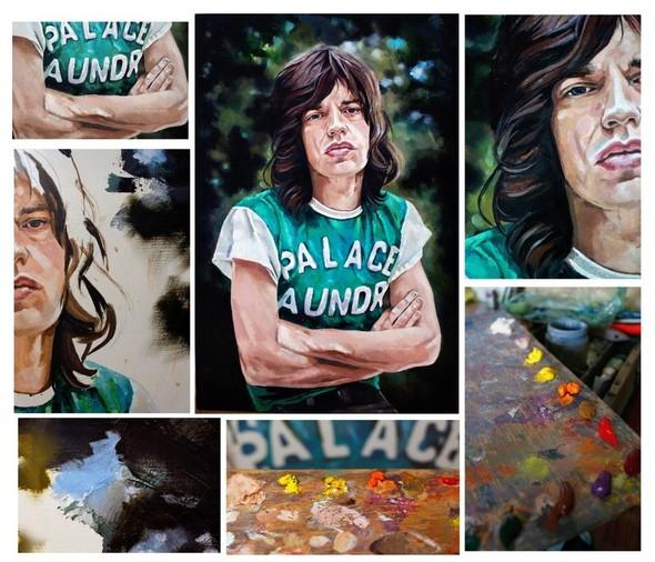 Mick Jagger Холст,масло Размер-60/90. Изображение №5.