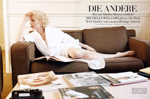 Съёмка: Мишель Уиллиамс для Vogue. Изображение № 1.