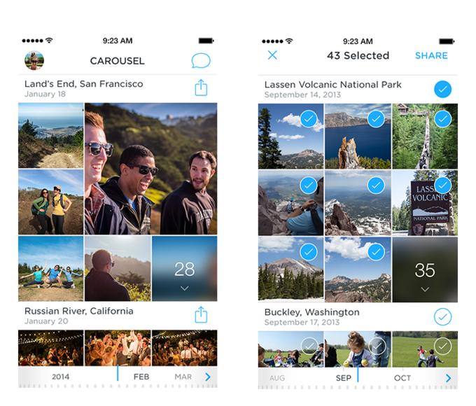 Новое приложение Dropbox организует воспоминания в «облаке». Изображение № 1.