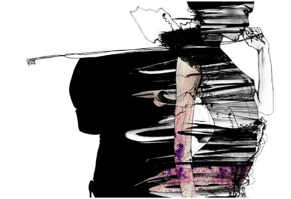 Красота женских линий припомощи двух-трех штрихов. Изображение № 10.