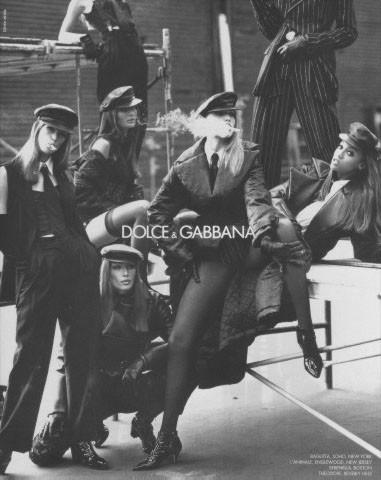 Архивная съёмка: Кейт Мосс, Тайра Бэнкс и другие для Dolce & Gabbana FW 1992. Изображение № 6.
