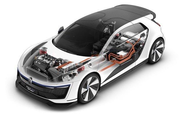 Volkswagen показал концепт автомобиля Golf GTE Sport . Изображение № 11.