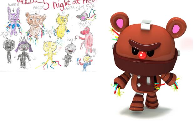 Художники создали монстров наоснове детских рисунков. Изображение № 22.