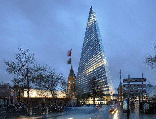 В Париже согласились строить небоскрёб-треугольник. Изображение № 3.